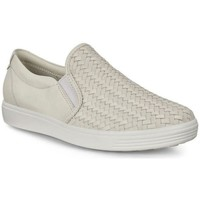 Chaussures Femme Slip ons Ecco Appartements souples 7 W Blanc