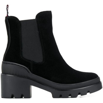 Chaussures Femme Bottines Tommy Hilfiger Bottines Chelsea Chunky Sporti Noir