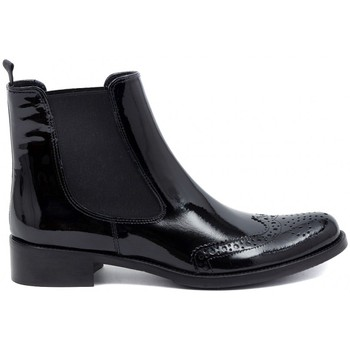 Chaussures Femme Boots Momenti TRONCHETTO INGLESE  NERO VERNICE    111,3