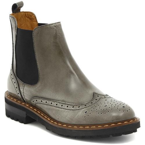 Chaussures Femme Boots Moda TRONCHETTO STILE INGLESE FUME Multicolore