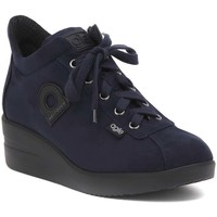 Chaussures Femme Baskets montantes Rucoline SUEDE BLU Multicolore