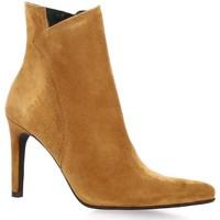 Chaussures Femme Boots Vidi Studio Boots cuir velours Cognac