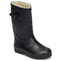 Chaussures Enfant Bottes de pluie Aigle WOODY POP FUR Marine