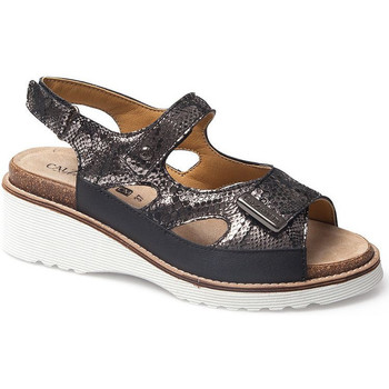Chaussures Femme Sandales et Nu-pieds Calzamedi SANDALE  THANA NOIR
