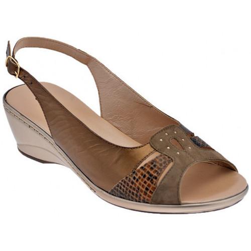 Chaussures Femme Sandales et Nu-pieds Confort 7038TaloncompenséTaloncompenséTaloncompensé Talon compensé Marron
