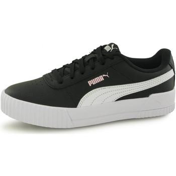 Chaussures Enfant Baskets basses Puma Baskets Carina Leather noir