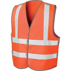 Vêtements Gilets / Cardigans Result Gilet  de sécurité High Viz Motorway orange fluo