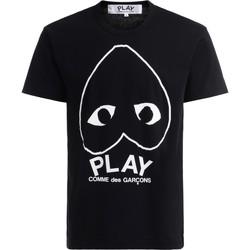 Vêtements Homme T-shirts manches courtes Comme Des Garcons T-Shirt  in cotone nero con cuore Noir