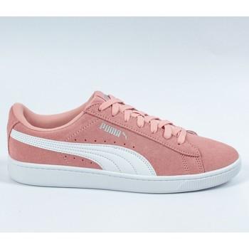 Chaussures Fille Baskets basses Puma Vikky v2 Suede Rose