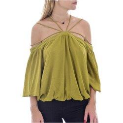 Vêtements Femme Tops / Blouses See U Soon 20111182 Vert