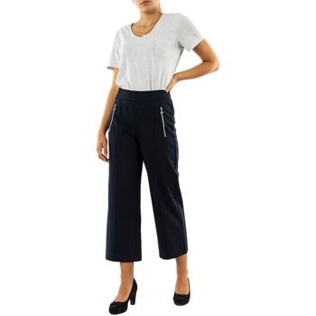 Vêtements Femme Pantalons Street One ltd qr emee zip wide leg 11238 deep blue bleu