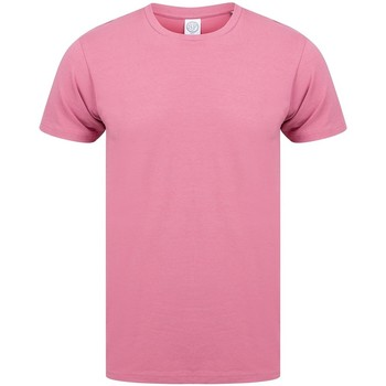 Vêtements Homme T-shirts manches courtes Skinni Fit Stretch Rose
