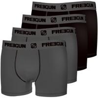 Sous-vêtements Homme Boxers Freegun Lot de 4 boxers homme coton Gris Gris