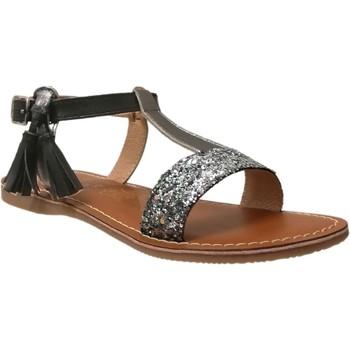 Chaussures Fille Sandales et Nu-pieds L'atelier Tropezien Il112 Noir glitter