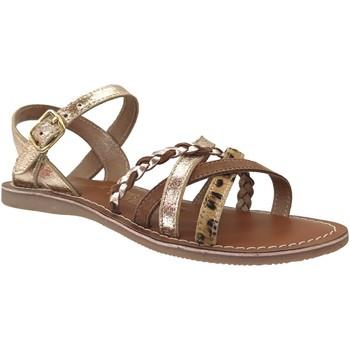 Chaussures Fille Sandales et Nu-pieds L'atelier Tropezien Il108 Platine métallisé