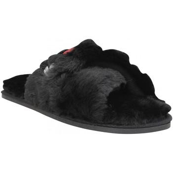 Chaussures Femme Chaussons Karl Lagerfeld Salotto Karl Kross Strap textile Femme Noir Noir
