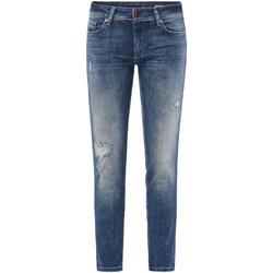 Vêtements Femme Jeans slim Salsa Jeans Push Up Wonder Capri à trous 123762 Bleu