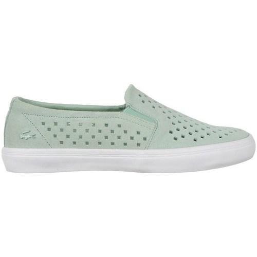 Chaussures Femme Slip ons Lacoste Gazon Slip ON 216 1 Caw Vert