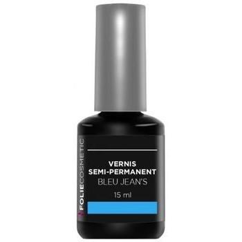 Beauté Femme Vernis à ongles Folie Cosmetic Vernis Semi permanent  Bleu Jean's   15ml Bleu