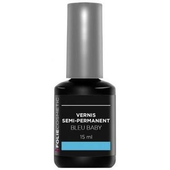 Beauté Femme Vernis à ongles Folie Cosmetic Vernis Semi permanent  Bleu Baby   15ml Bleu