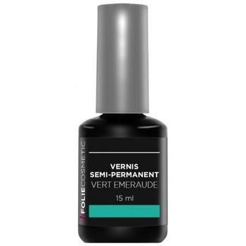Beauté Femme Vernis à ongles Folie Cosmetic Vernis Semi permanent  Vert Emeraude   15ml Vert