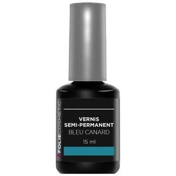 Beauté Femme Vernis à ongles Folie Cosmetic Vernis Semi permanent  Bleu Canard   15ml Bleu