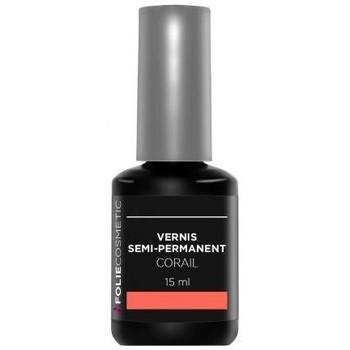 Beauté Femme Vernis à ongles Folie Cosmetic vernis Semi permanent  Corail   15ml Rose