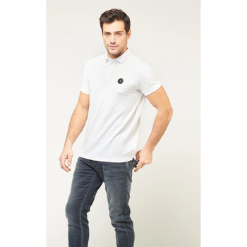 Vêtements Homme Polos manches courtes Japan Rags Polo dylan WHITE