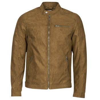 Vêtements Homme Vestes en cuir / synthétiques Jack & Jones JJEROCKY Cognac