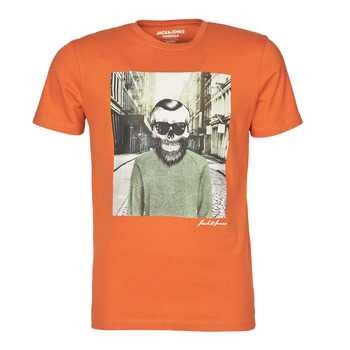 Vêtements Homme T-shirts manches courtes Jack & Jones JORSKULLING Orange