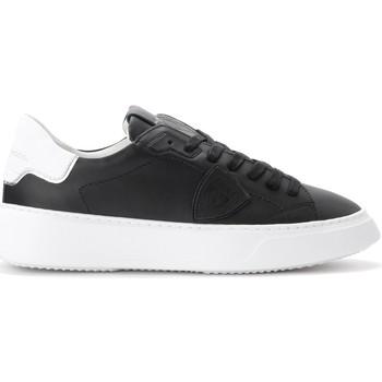 Chaussures Homme Baskets basses Philippe Model Baskets Temple en cuir noir Noir
