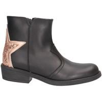 Chaussures Fille Boots Dianetti Made In Italy I9889 Noir / Nude