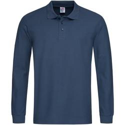 Vêtements Homme Polos manches longues Stedman  Bleu marine