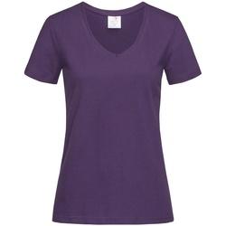 Vêtements Femme T-shirts manches courtes Stedman  Violet foncé