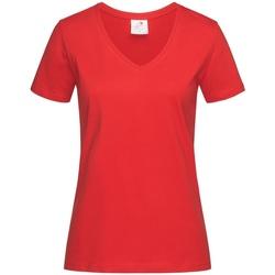 Vêtements Femme T-shirts manches courtes Stedman  Rouge