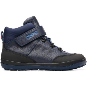 Chaussures Garçon Boots Camper Bottines cuir PEU PISTA bleu