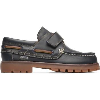 Chaussures Garçon Chaussures bateau Camper moccasines cuir COMPAS bleu