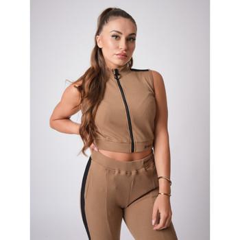 Vêtements Femme Tops / Blouses Project X Paris Crop-Top Marron