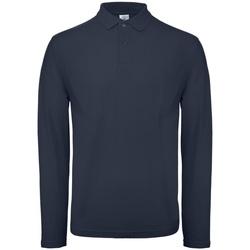 Vêtements Homme Polos manches longues B And C PUI12 Bleu marine