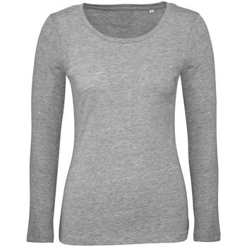 Vêtements Femme T-shirts manches longues B And C TW071 Gris chiné