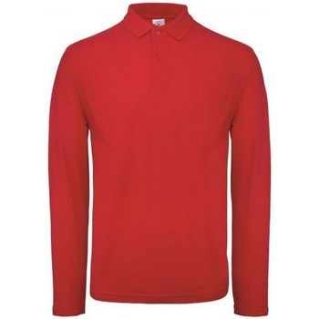 Vêtements Homme Polos manches longues B And C PUI12 Rouge