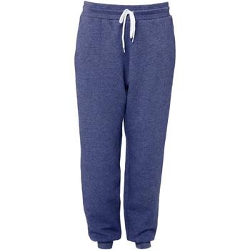 Vêtements Pantalons de survêtement Bella + Canvas CA3727 Bleu marine chiné
