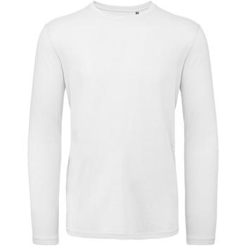 Vêtements Homme T-shirts manches longues B And C TM070 Blanc