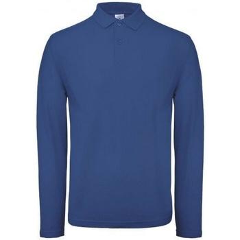 Vêtements Homme Polos manches longues B And C PUI12 Bleu