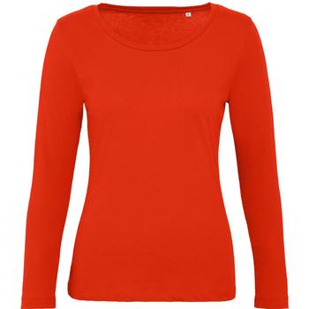 Vêtements Femme T-shirts manches longues B And C TW071 Rouge orangé