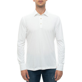 Vêtements Homme Polos manches longues Kiton POSITANO-K06S371 Bianco