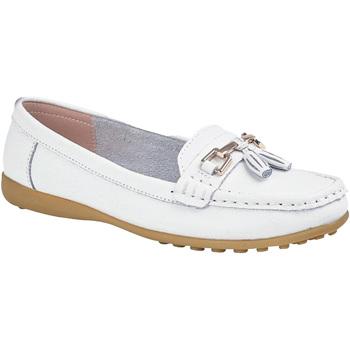 Chaussures Femme Mocassins Boulevard  Blanc
