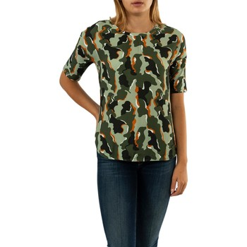 Vêtements Femme T-shirts manches courtes Street One camouflage mat mix 32440 shady olive vert