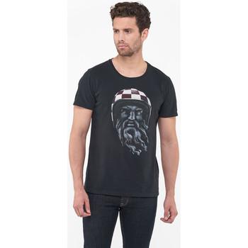 Vêtements Homme T-shirts manches courtes Japan Rags T-shirt minos noir BLACK