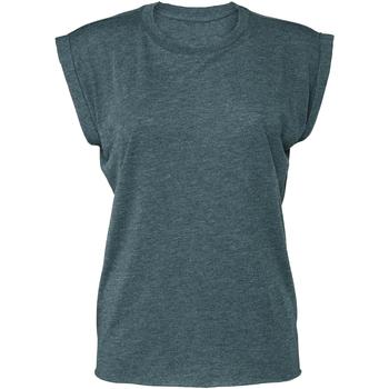 Vêtements Femme T-shirts manches courtes Bella + Canvas BE8804 Bleu sarcelle chiné
